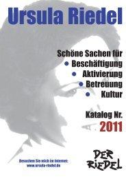 Schöne Sachen für Beschäftigung Aktivierung ... - Riedel GmbH