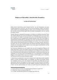 Religion und Sexualität - fowid - Forschungsgruppe ...