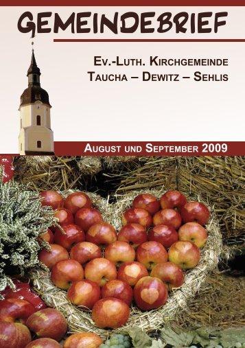 August/September 2009 (811 KB) - St. Moritz Taucha