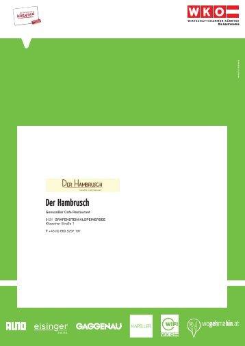 Der Hambrusch - Wogehmahin.at