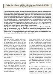 Predigt über 1. Petrus 3, 8-15a; 4. Sonntag nach ... - Ispringen.elkib.de