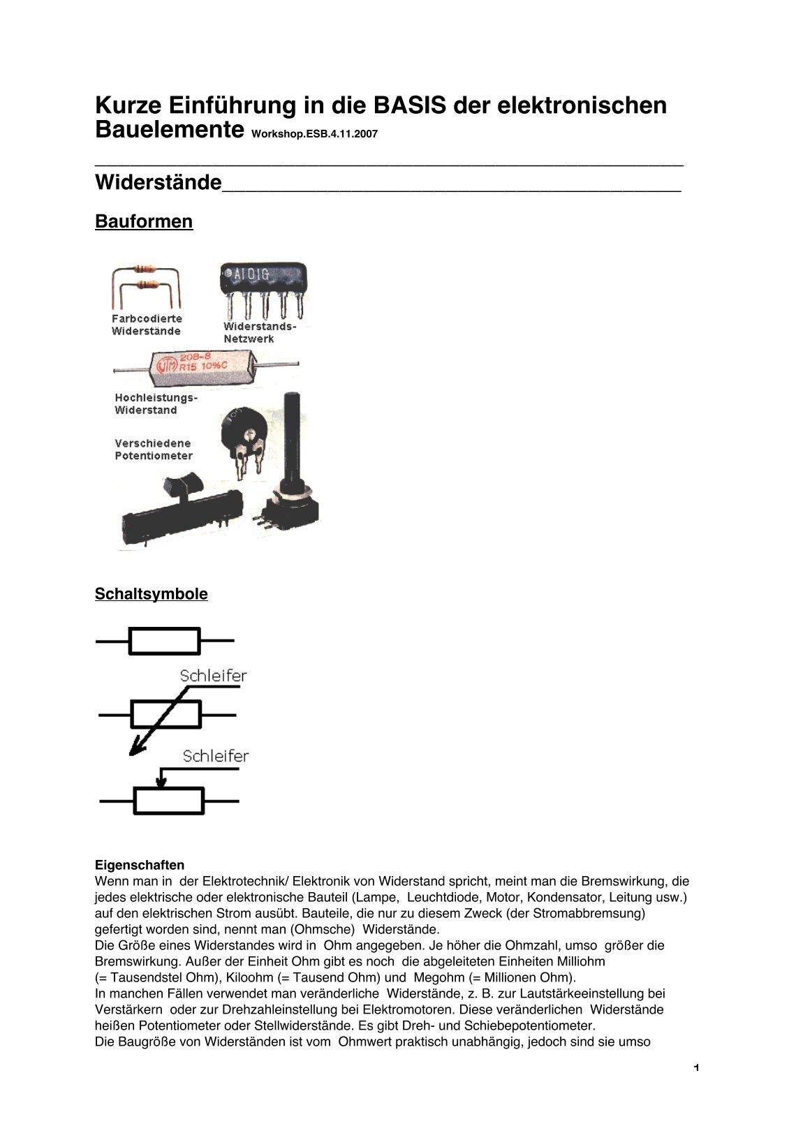 Wunderbar Elektronische Diagrammsymbole Und Abkürzungen Galerie ...