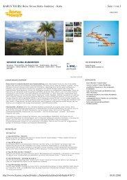1.990,- Seite 1 von 3 IKARUS TOURS | Reise 'Grosse Kuba ...