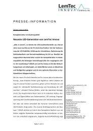 Mönchengladbach, Monat 2005 - LemTec Innova