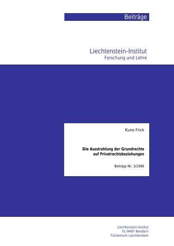 Beiträge Liechtenstein-Institut - Liechtenstein-Institut, Bendern