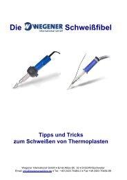 Schweißen von Thermoplasten - Wegener International GmbH