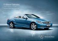 Preisliste Mercedes-Benz E-Klasse Cabriolet (A207) vom 10.01.2012.