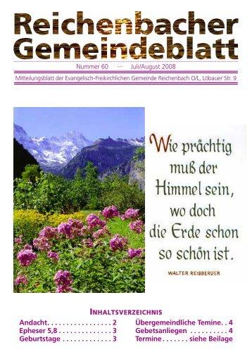 Nr. 60 Juli/August 08 - bei der EFG Reichenbach