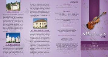 Schlosskonzerte 2013 - Natur im Garten