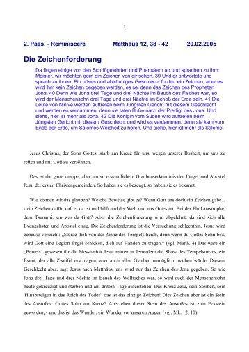 Die Zeichenforderung - Vorträge von Reinhart Gruhn
