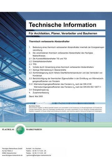 Thermisch verbesserte Abstandhalter - Emigholz-Zeiler GmbH
