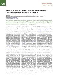 When It Is Hard to Get to with Genetics-Planar Cell Polarity under a ...