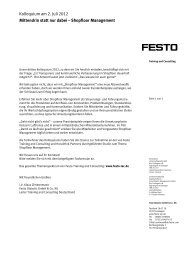 Workshop Konfliktmanagement - Festo Didactic