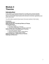 Module 4 Theories - Ontario Health Promotion Resource System ...