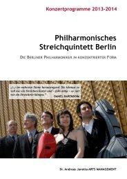 Philharmonisches Streichquintett Berlin - Andreas Janotta Arts ...