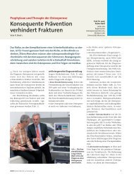 Konsequente Prävention verhindert Frakturen - Osteoporose ...
