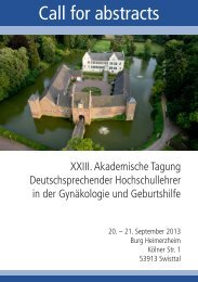 Call for abstracts - XXIII. Akademischen Tagung ...