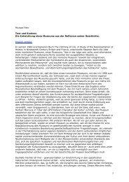1 Michael Fehr Text und Kontext. Die Entwicklung eines Museums ...