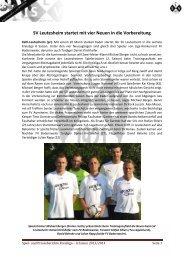 SV Leutesheim startet mit vier Neuen in die Vorbereitung