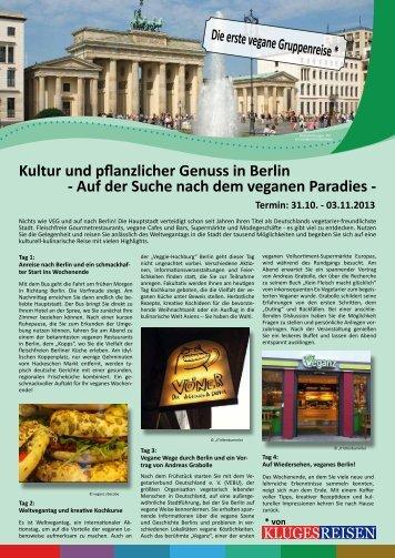 Kultur und pflanzlicher Genuss in Berlin - Auf der ... - Kluges-Reisen