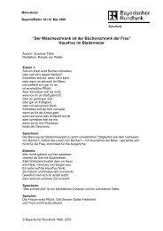 Hausfrau im Biedermeier - Bayerischer Rundfunk