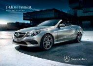 Preisliste Mercedes-Benz E-Klasse Cabriolet (A207) vom 07.03.2013.