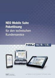 NEO Mobile Suite Paketlösung für den technischen Kundenservice