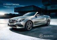Preisliste Mercedes-Benz E-Klasse Cabriolet (A207) vom 07.10.2013.