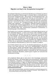 Klaus J. Bade Migration und Asyl in der 'Europäischen Innenpolitik'∗