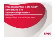 Umsetzung des Kundenversprechens - Dr. Torsten Oletzky - ERGO ...