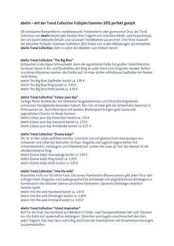 ebelin – mit der Trend Collection Frühjahr/Sommer 2012 ... - Dm