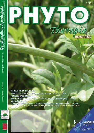 Der pflanzliche Arzneischatz - phytotherapie.co.at