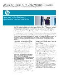 Senkung der IT-Kosten mit HP Output Management Lösungen