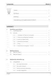 Leseprobe Modul 3 Lehrbrief 1 - Feloidea - Fernstudium für ...
