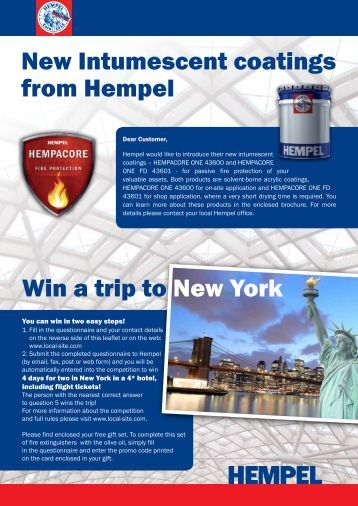 Win a trip to New York New Intumescent coatings from Hempel