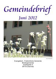 Gemeindebrief 12-06 - EFG Chemnitz Brüdergemeinde