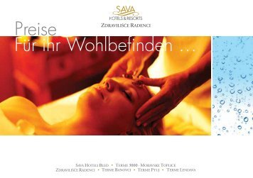 Wellness Preisliste - Sava Hotels & Resorts