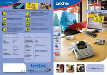 P-touch 2100VP - Brother