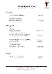 Aktuelle Speisekarte mit Pfifferlingkarte - Hotel und Restaurant zum ...