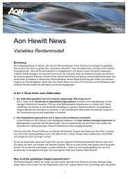 Variables Rentenmodell - Aon