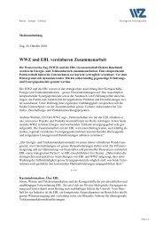 WWZ und EBL vereinbaren Zusammenarbeit - Wasserwerke Zug AG