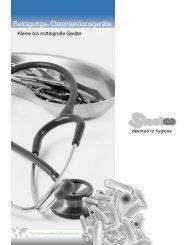 Reinigungs-/Desinfektionsgeräte - Hagmann Maschinenbau AG