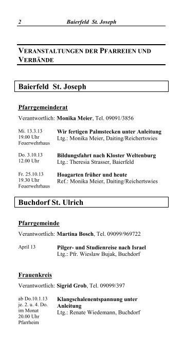 Baierfeld St. Joseph Buchdorf St. Ulrich - Bischöfliches Dekanat ...