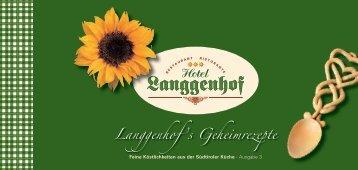 Rezepte 2010 - Hotel Langgenhof