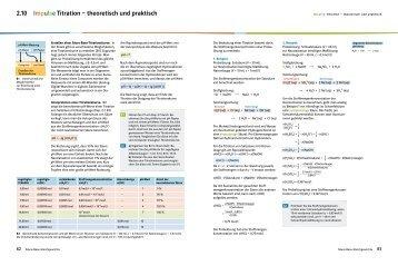 2.10 Impulse Titration – theoretisch und praktisch