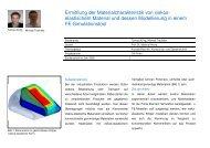Ermittlung der Materialcharakteristik von viskos- elastischem ...