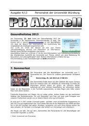 PR-Aktuell 4-13 - Universität Würzburg