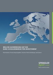 Welche AusWirkung hAt die euro-schuldenkrise für investoren?