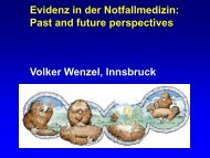 Evidenz in der Notfallmedizin, past and future perspectives