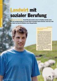 Landwirt mit sozialer Berufung